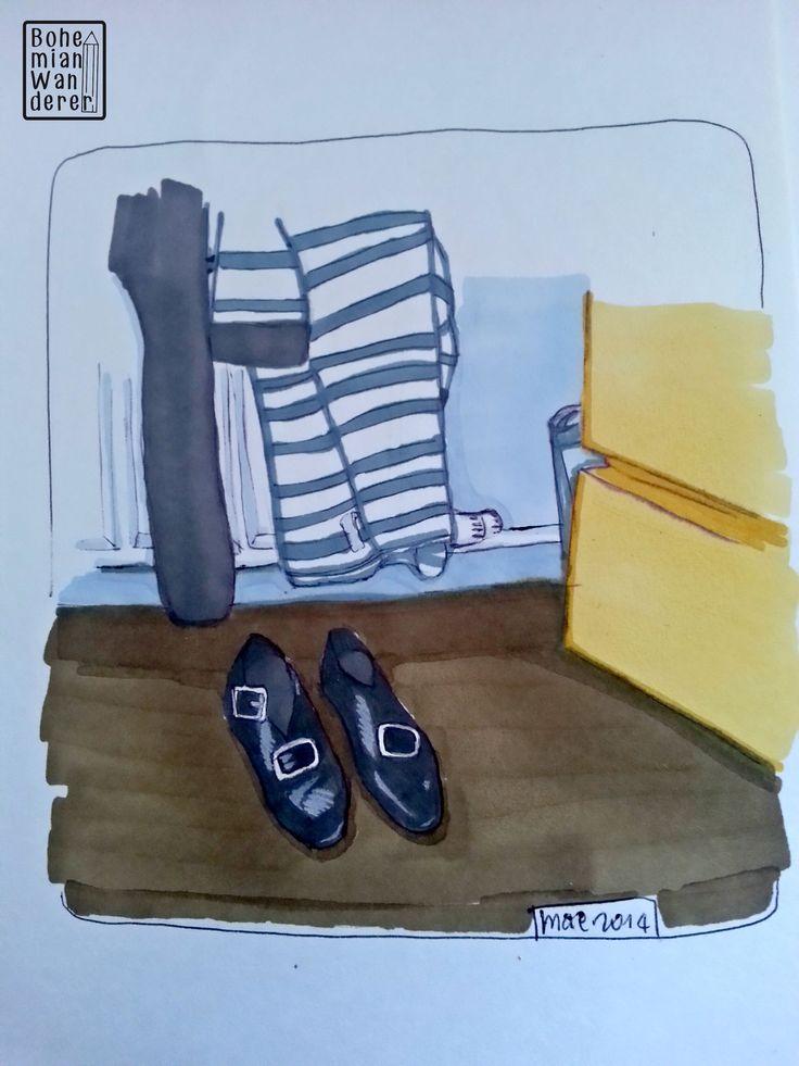 Sketching around: scarpe da Danza Irlandese #irishdance #northernireland #irlandadelnord #derry #londonderry #sketchingaround #disegni #drawings #letraset #promarker