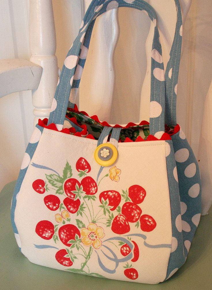 Bolso vintage de fresas Stel:-)