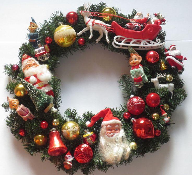 Vintage Glass Christmas Ornament Wreath Knee Hugger