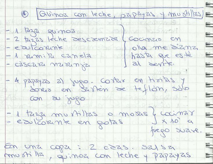 QUINOA CON LECHE, PAPAYAS Y MURTILLA   #DULCE #POSTRES #POSTRE #QUINOA