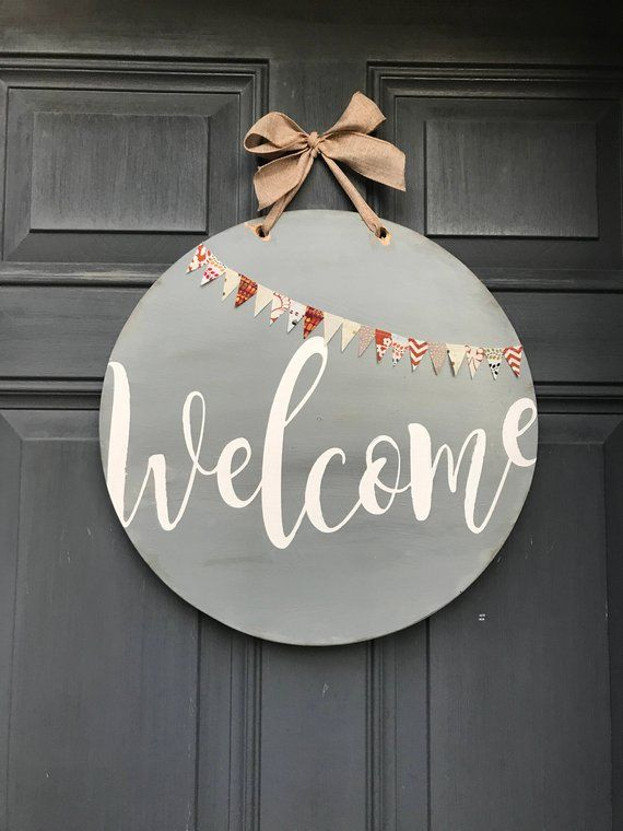 Your Place To Buy And Sell All Things Handmade Door Decorations Welcome Signs Front Door Front Door Decor