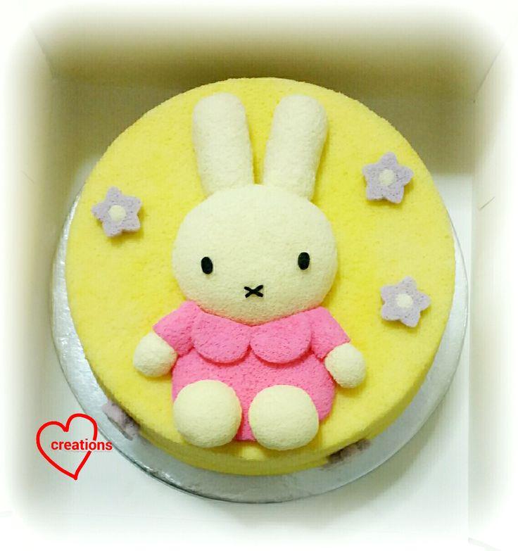 Loving Creations for You: Miffy Lemon Vanilla Chiffon Cake