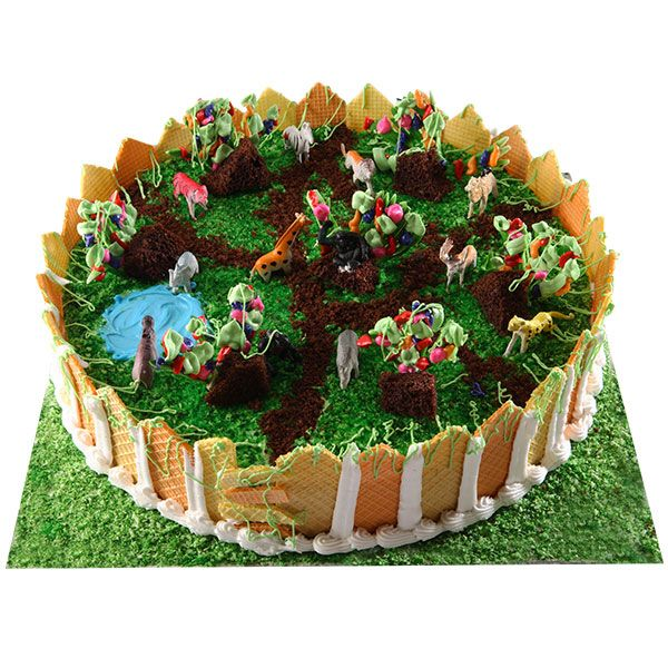Send our special zoo park cakes to your kid's birthday and make him smile in delight. These cakes represent the beauty of nature in a very appealing and scrumptious manner.
