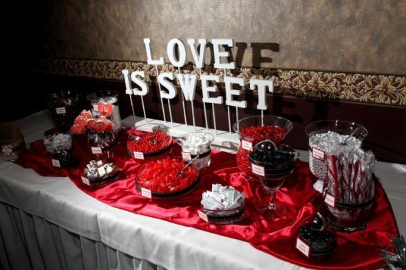 Image detail for -Candy buffet table sign (Love is Sweet) : wedding candy buffet table ...