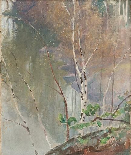 Pekka Halonen, Spring Shore, 1920, The Life and Art of Pekka Halonen - from http://www.alternativefinland.com/art-pekka-halonen/