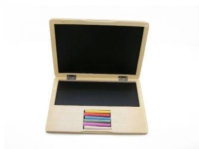 Educational / Fun / Old Fashioned Wooden Toys -Machiko - a boutique for kids - Wooden Notebook/Computer, $21.95 (http://www.machikobaby.com.au/products/wooden-notebook-computer.html)