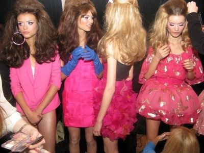 back stage at the barbie fashion show