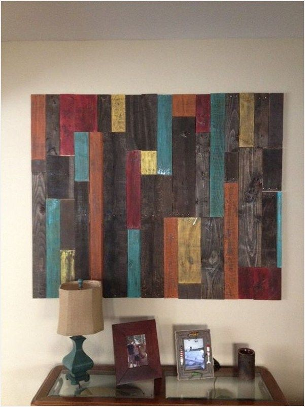 42 Awesome Pallet Wall Art Design Ideas Pallet Wall Decor Pallet Wall Art Wood Pallet Wall Art