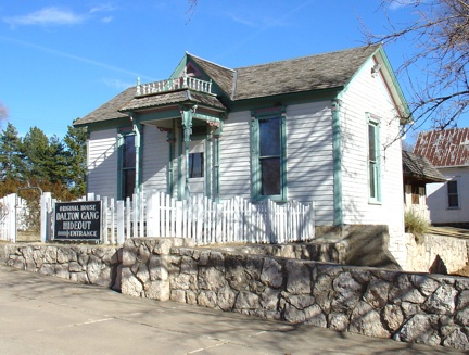 Dalton Gang Hideout, in Meade, Kansas was the home of Eva Dalton Whipple, sister to the infamous Dalton Gang. Erosion uncovered the tunnel from the house to the barn, known as the gangs means of come and go.