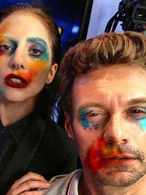 Lady Gaga Paints Ryan Seacrest's Face: Daily Beauty Reporter :  Since Lady Gaga became Lady Gaga, the line between her life and her art hasn't been just blurred—it's nonexistent. For the cover of her new single, Applause (from her new ARTPOP album, to be released November 11), the boundary-pushing...