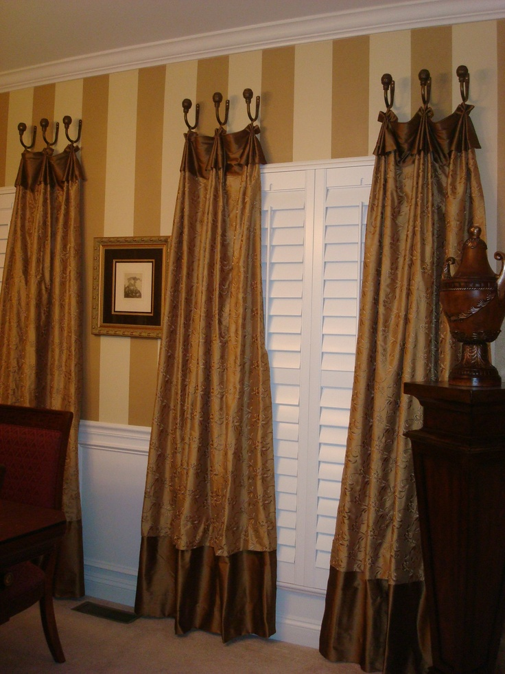 17 best images about drapes on pinterest window for Dining room valance ideas