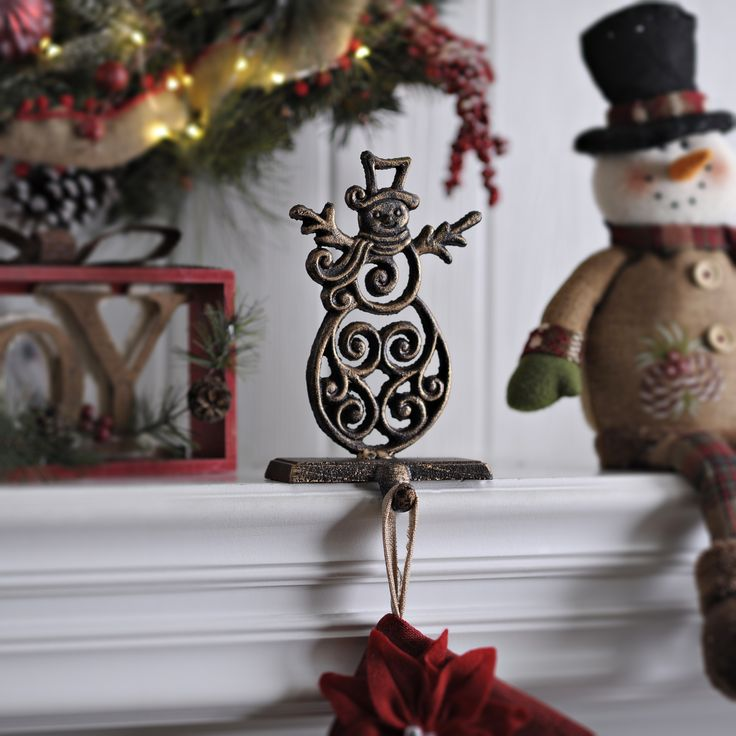 Fireplace Mantel stocking holders for fireplace mantel : Best 909 Decorating for Christmas images on Pinterest | Home decor