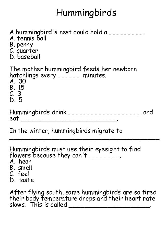 Worksheets Homeschool Science Worksheets 1000 images about education printables on pinterest science free hummingbird worksheet