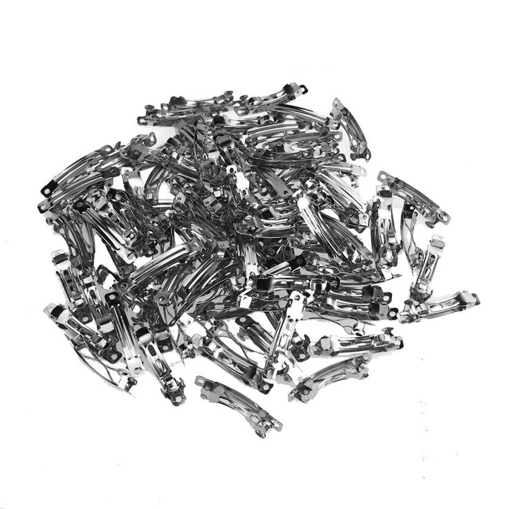 Silver French Clip, 40mm, 100-Piece