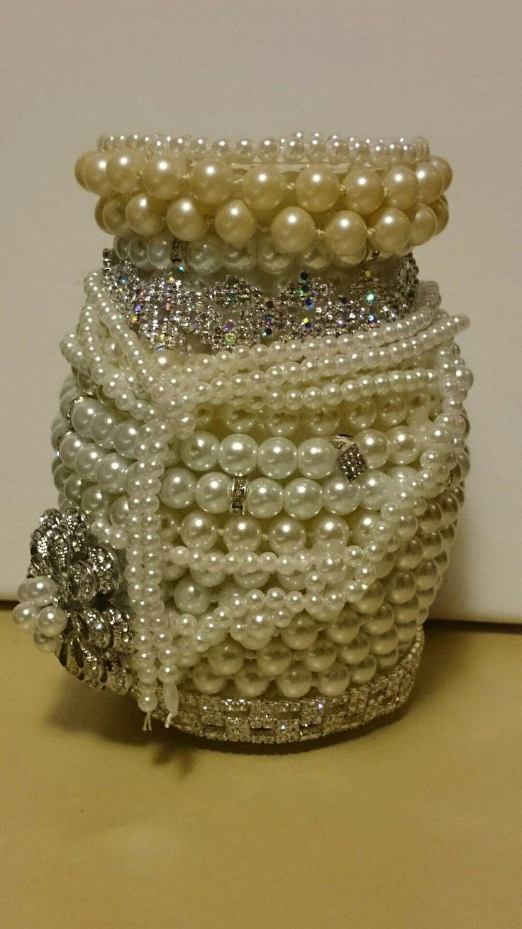 broken pearls jewelry vase