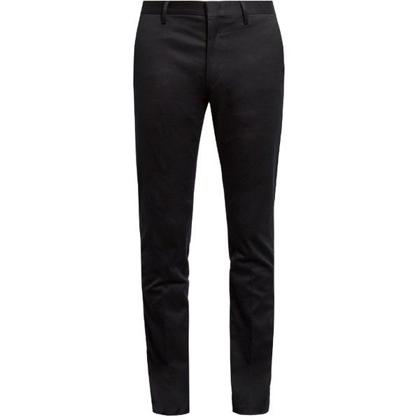 Paul Smith Stretch-cotton chino trousers ($143) ❤ liked on Polyvore featuring men's fashion, men's clothing, men's pants, men's casual pants, mens formal pants, mens slim pants, mens navy blue pants, mens slim fit pants and mens slim fit chino pants