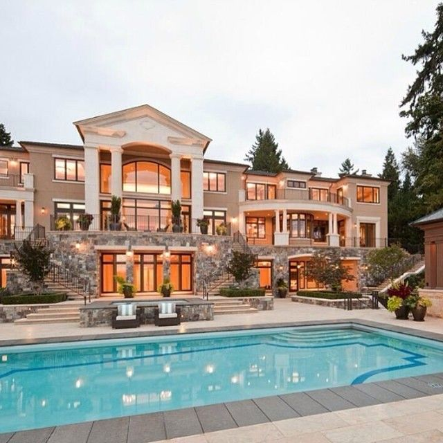 Mansion Houses With Pools: 100s Of Different Patio & Pool Design Ideas. Http://www