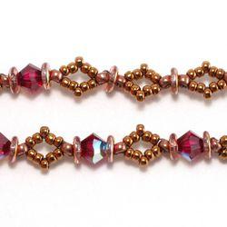 Diamond O Beaded Chain