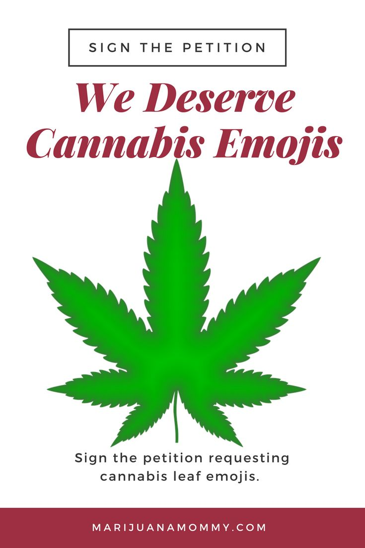 I want a cannabis leaf emoji! Sign the petition asking for one. #marijuana #weed #cannabis