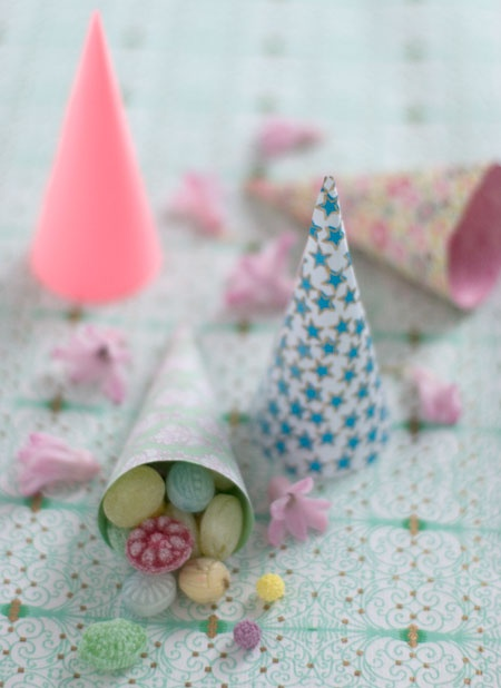Candy cones, use Martha new punch Easter for kids :)