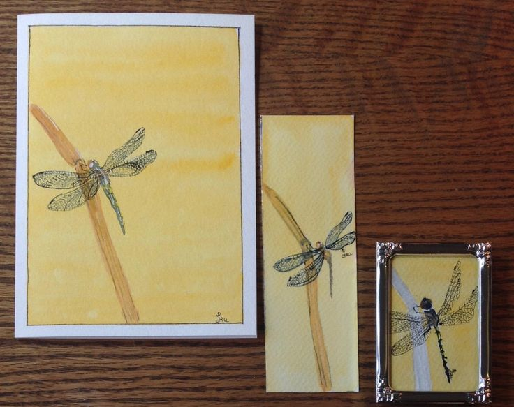 Christmas Gift,Gift for Her,Coworker Gift,Stocking Stuffer,Greeting Card,Bookmark,Gifts Under 20 Dollars,Dragonfly Gift, Watercolor Painting by FreeFlowingPaint on Etsy