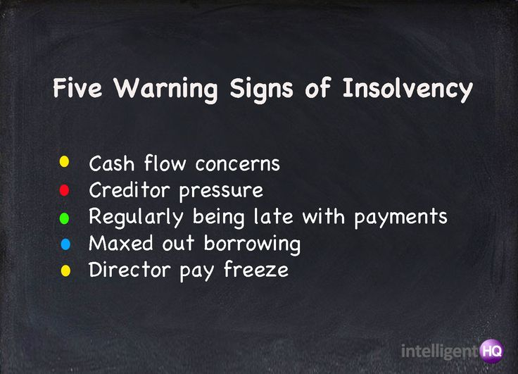 the key signs of insolvency