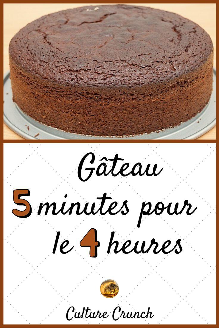 GÂTEAU 5 MINUTES POUR 4 HEURES : la recette facile