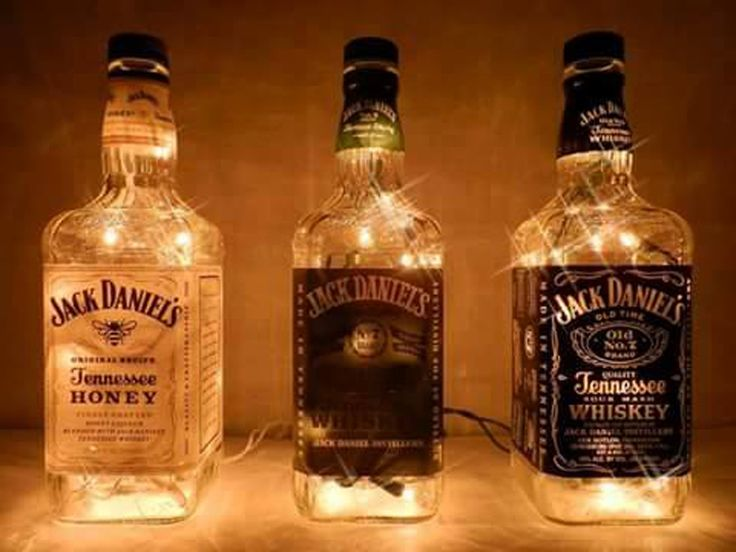 Recycle and Decorate with Liquor Bottles.