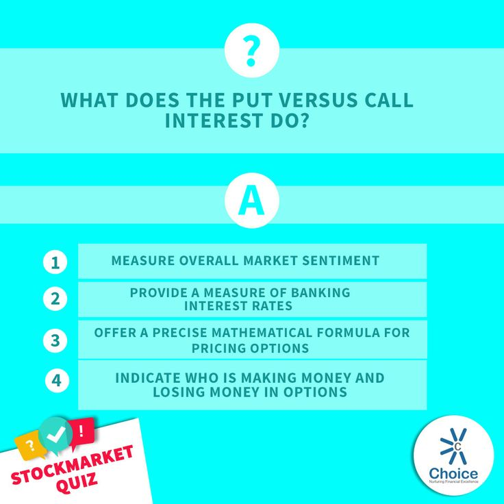 What does the put versus call interest do?  1) Measure overall market sentiment  2) Provide a measure of banking interest rates  3) Offer a precise mathematical formula for pricing options  4) Indicate who is making money and losing money in options