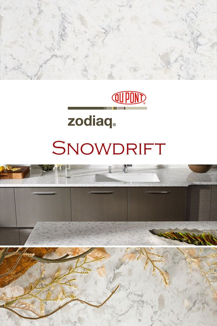 Snowdrift Zodiaq Is Perfect For A Kitchen Quartz Countertop Replacement.
