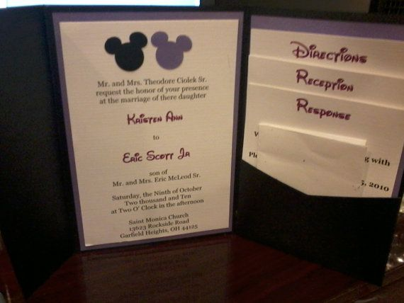 109 best disney wedding invites images on Pinterest | Disney ...