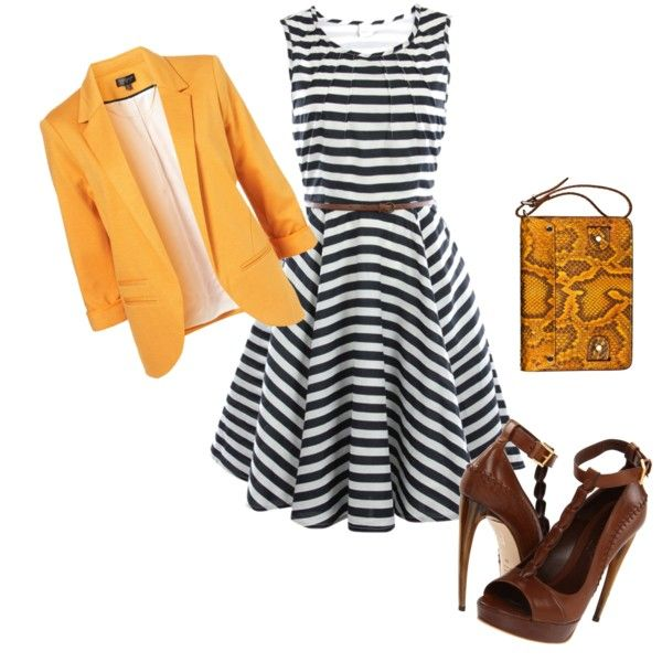 cute: Outfit Combinations, Outfits Combinations, Yellow Blazer