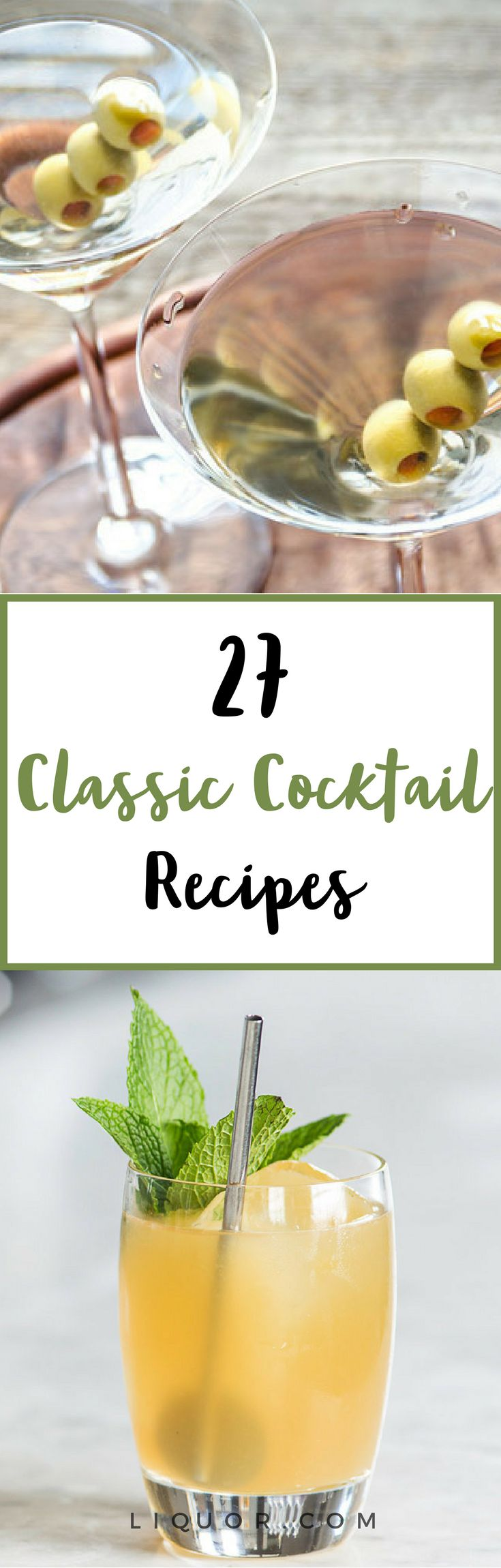 These 27 #classic drinks are the #cocktails you should know how to make.