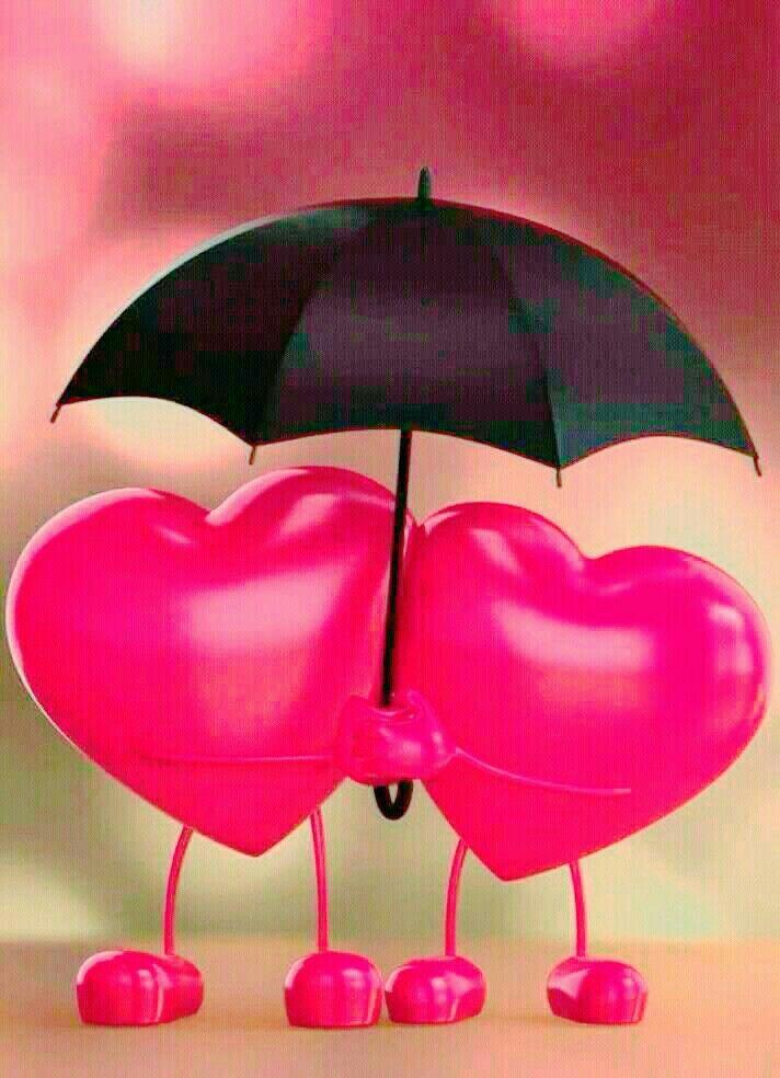 красивые картинки сердца под зонтом что этом заведении