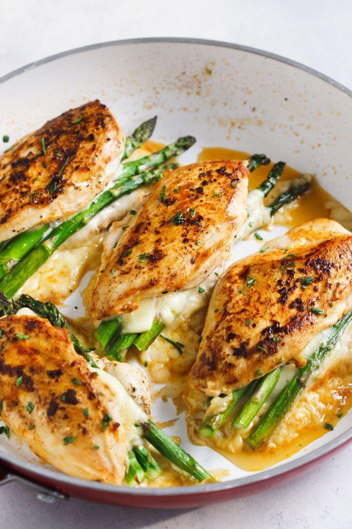 Asparagus Stuffed Chicken Breast #justeatrealfood #primaverakitchen