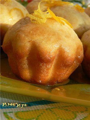Лимонные кексы с медом