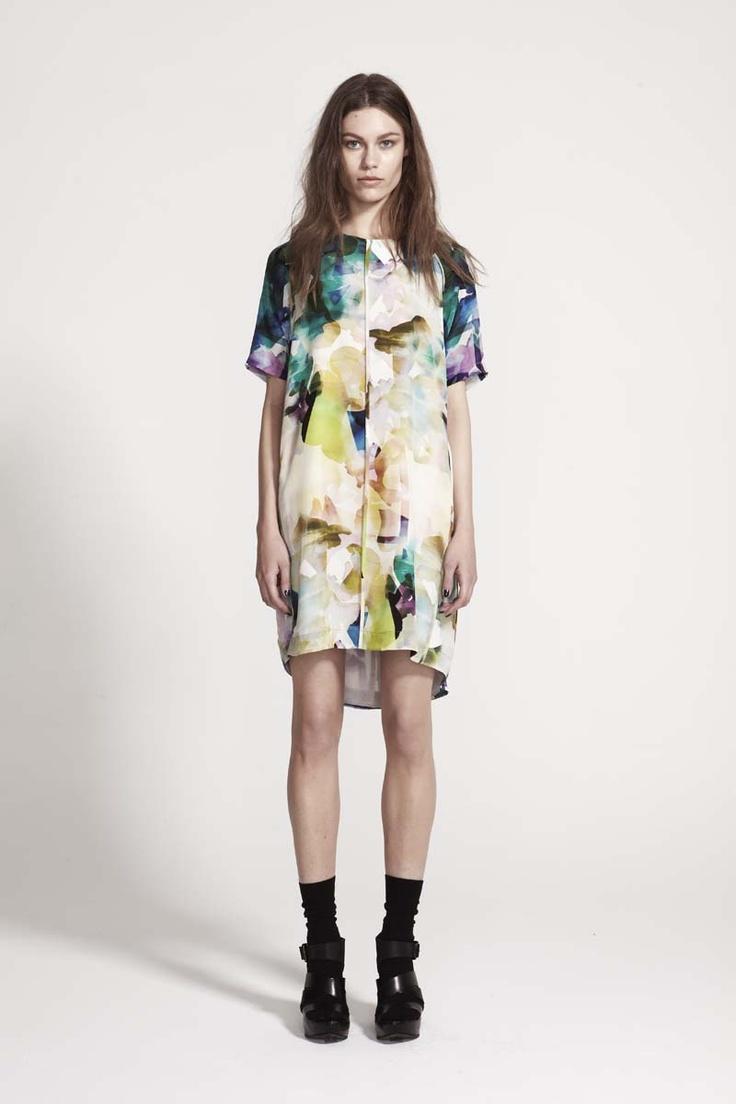 Life with Bird Collide digital print dress #lifewithbird
