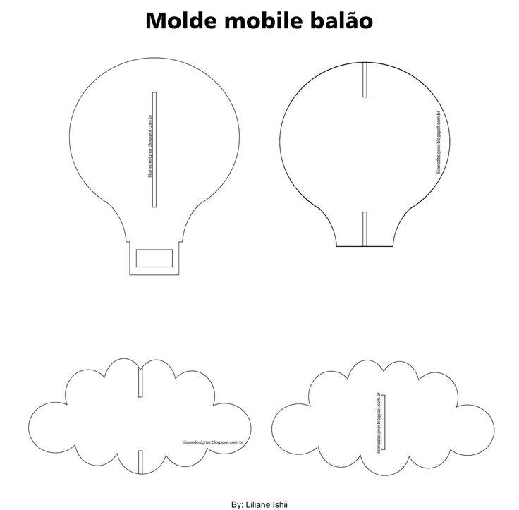 Material   * Molde da nuvem e balão (estão no final desta página)   * fio de nylon (ou a linha que desejar, pode ser aquela de pesca tam...