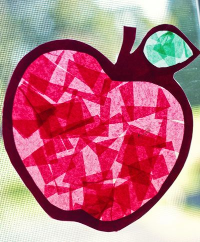 Stained Glass Apples - Twelve Months of Fun