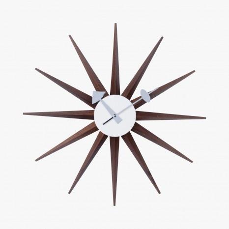 Horloge Sunburst en bois