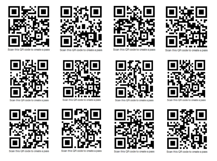 25 best cool passes images on pinterest pocket wallet purse and if you have on your iphone or ipod touch scan any of these qr codes for cool sample passbook passes colourmoves