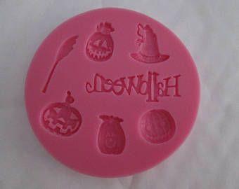 Stampo in silicone per la decorazione in zucchero a tema di Halloween #4 incolla