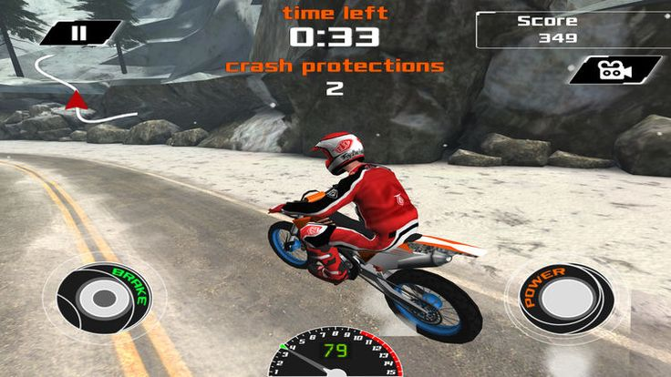The snowflakes are falling and the winter weather is extreme, but that's nothing in comparison to the extreme obstacle course that awaits you in this online racing game. Acceleration Up Arrow Key Break Down Arrow Key Left and Right Arrow Keys for Balance Bike Press Enter key to turn your bike   #bike #challenging #online game #racing #sports #winter