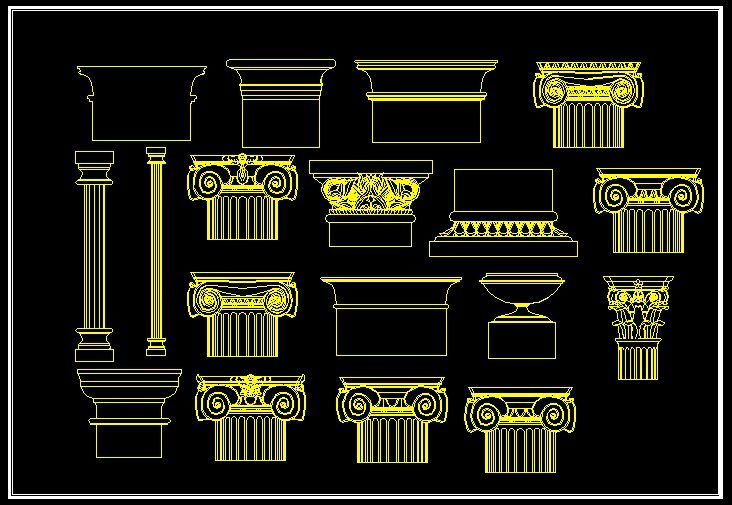 European Classical elements BlocksAutoCAD Blocks & Drawings,CAD Details,