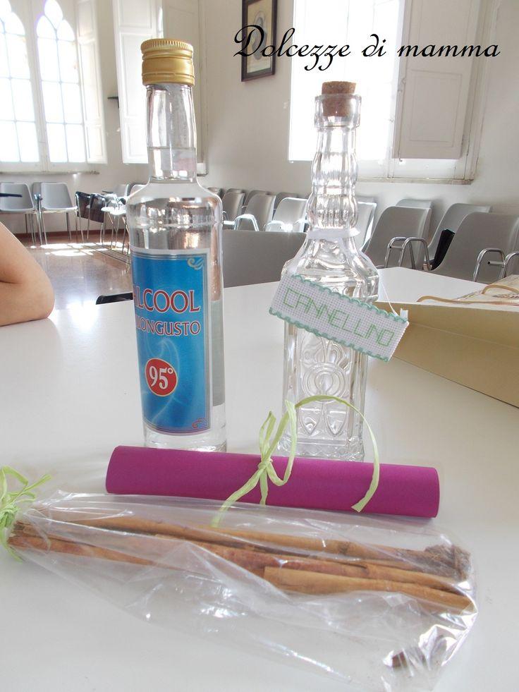 Dolcezze di mamma: Dei liquori di casa Dolcezze 3: Cannellino ( e del Meeting dell'Isola Creativa)