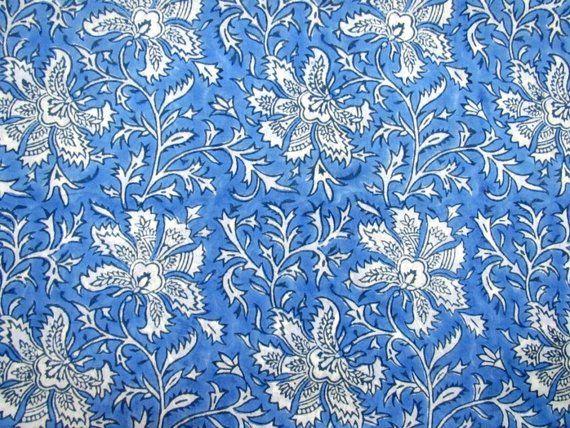 5 yard Indian Pink  hand block bird print fabric natural 100/% cotton fabric