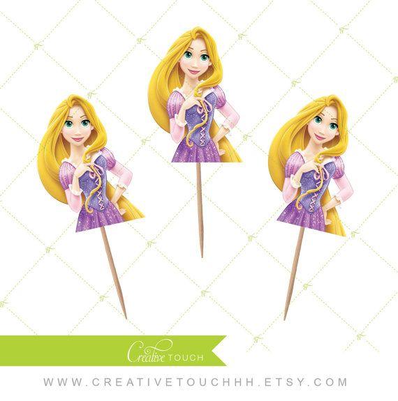 Rapunzel Cupcake Toppers Princess Rapunzel by ...