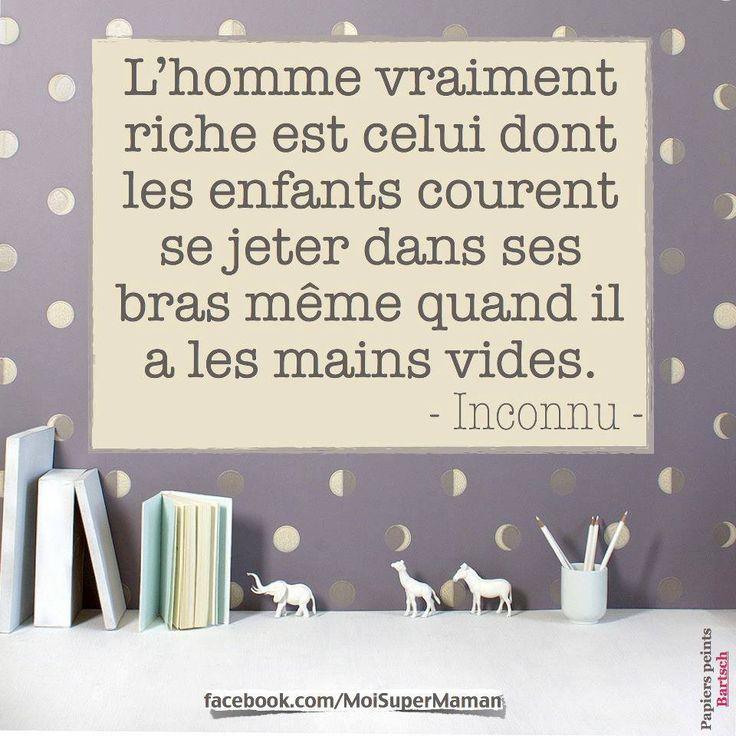 L'homme vraiment riche... - citation pour penser