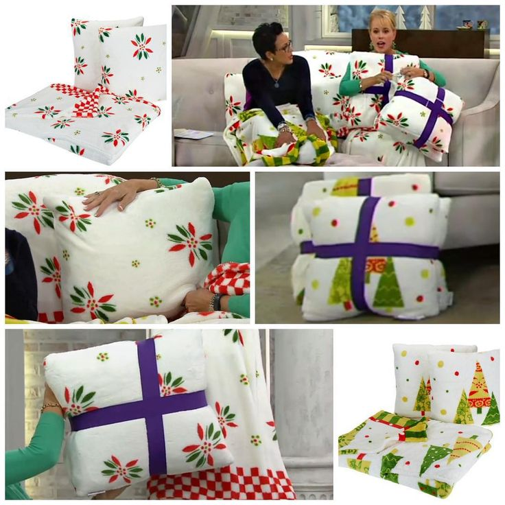 """""""Lisa Gleason and Rachel Boesing QVC got nice and cozy this morning with my temp-tations Footed Throw and Pillow Set by Berkshire Blanket! This plush set…"""""""