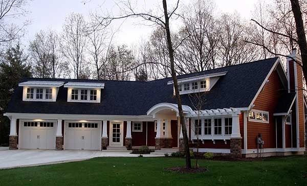 Popular Home Plan with Options - 18222BE | Cottage, Craftsman, Northwest, Exclusive, Photo Gallery, 1st Floor Master Suite, Bonus Room, CAD Available, Den-Office-Library-Study, Handicapped Accessible, PDF, Sloping Lot | Architectural Designs